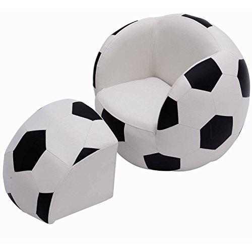 Homcom Kids Children Football Chair Armchair Sofa and Stool sport theme childrens playroom Fanatic Brand New BY HOMCOM