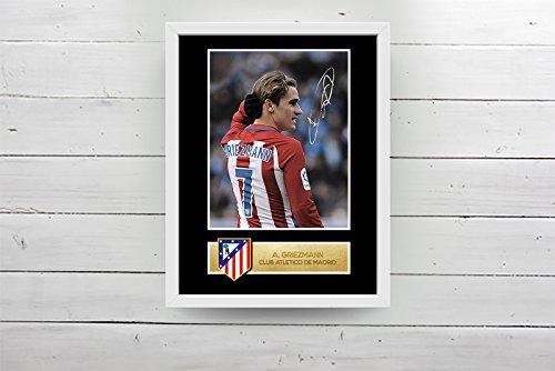 Antoine Griezmann cadre photo dédicassé Atletico de Madrid (30x40cm)