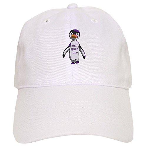 e28a322a02f CafePress Crazy Penguin Lady - Baseball Cap with Adjustable Closure