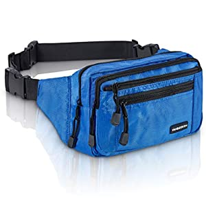 VAN BEEKEN Bauchtasche Gürteltasche für Damen und Herren I Wasserabweisende und reißfeste Hüfttasche mit Gurtverlängerung I Hip Bag