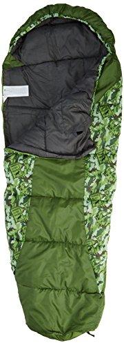 trespass-bunka-kids-essential-mummy-sleeping-bag-for-3-12-years-boys-girls-170-x-65-x45-cmgreen-camo