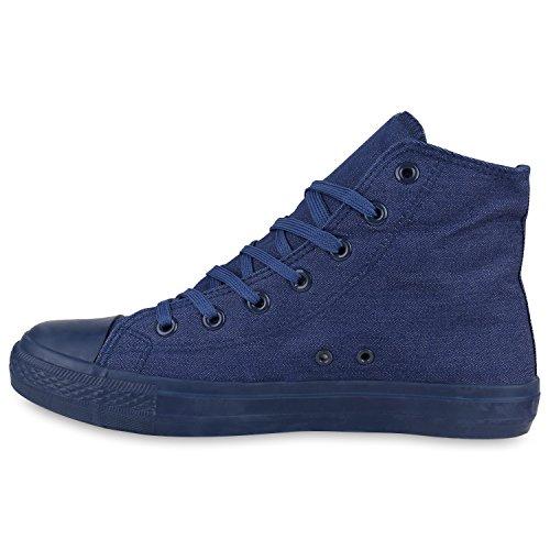Herren Schuhe Sneakers | Sneaker High Denim | Turnschuhe Camouflage | Stoffschuhe Schnürer Denim Blau All