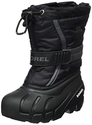 Sorel Childrens Flurry, Kinder Schneestiefel, Grau (Black, City Grey), 27