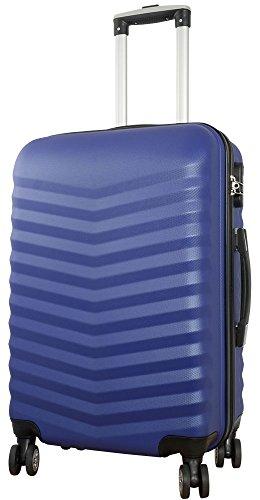 Trendyshop365 - ABS Reisekoffer Trolley - Bora Hartschalenkoffer 81 Liter Volumen - Koffer Blau Hartschale in L