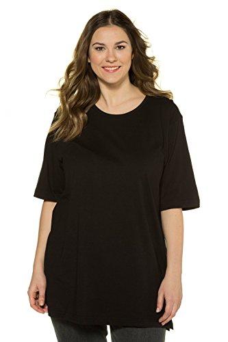 Ulla Popken Große Größen Damen T-Shirt, Rundhals, Schwarz (schwarz 10), 54/56 (Herstellergröße:54)