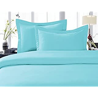 Elegant Comfort 1500 Thread Count Egyptian Quality 2 Piece Wrinkle Free and Fade Resistant Luxurious Duvet Cover Set, Twin/Twin X-Large, Aqua