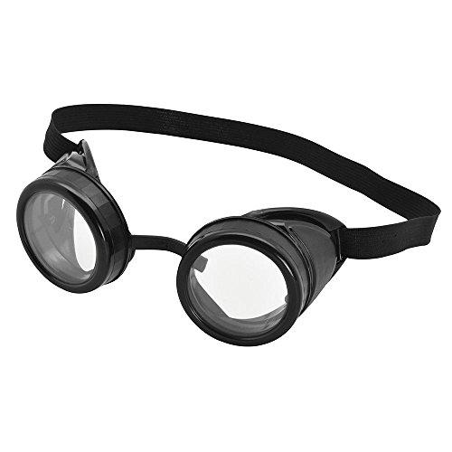 Bristol Novelty BA615 Pilot Schutzbrille, Schwarz, mens, Einheitsgröße