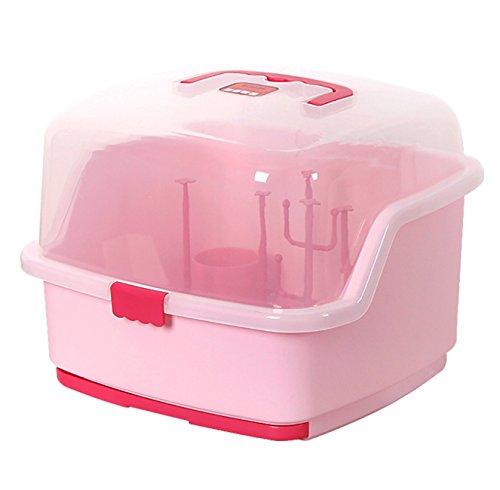 egouttoir-a-biberons-et-vaisselleboite-de-rangement-portable-avec-couvercle-etanche-rose