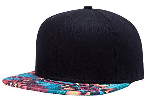 Imagen de aivtalk  hip hop negro sombrero  de béisbol moda con estampado unisex snapback hat cap para hombres mujeres