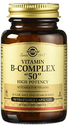 Solgar Vitamina B-Complex \'\'50\'\' Cápsulas vegetales - Envase de 50