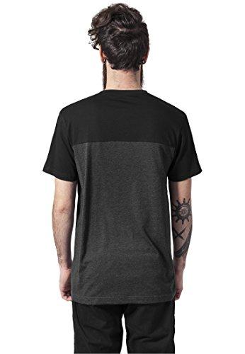 Urban Classics - T-shirt 3-tone Pocket Tee, Maglia a maniche lunghe Uomo cha/blk/gry