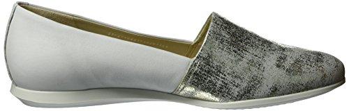 Ecco Damen Touch Ballerina 2.0 Geschlossene Ballerinas Silber (58498GRAVEL/WHITE)