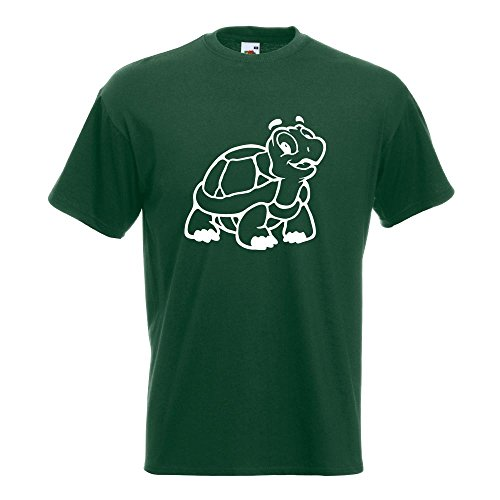 KIWISTAR - Schildkröte T-Shirt in 15 verschiedenen Farben - Herren Funshirt bedruckt Design Sprüche Spruch Motive Oberteil Baumwolle Print Größe S M L XL XXL Flaschengruen