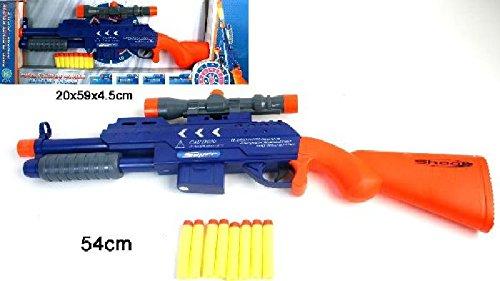 BG International - Fusil à Pompe 54 cm + 8 flèches Mousse
