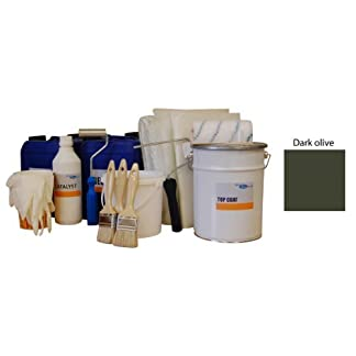 5sqm fibreglass / grp pond kit - olive topcoat, lloyds resin, fibreglass matting & tools 5sqm Fibreglass / GRP Pond Kit – Olive Topcoat, Lloyds Resin, Fibreglass Matting & Tools 41 2BDfelOKmL