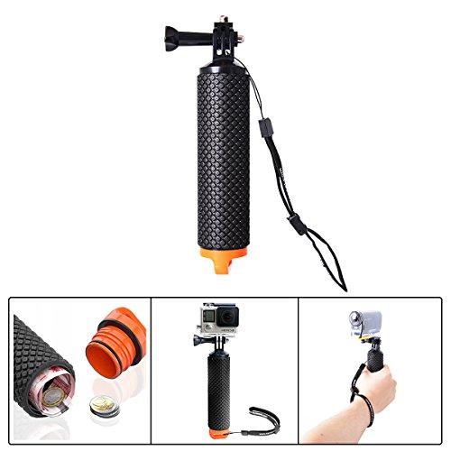 Fantaseal® Gopro Poignée Flottant, Ergonomique Support Etanche Action Caméra Selfie Stick pour GoPro Hero 5/4/3+/3/2/SESSION/SJCAM/SONY HDR FDR/Garmin Virb XE/Xiaomi Yi 4K etc