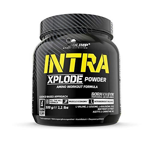 Olimp Intra Xplode Powder | mit verzweigtkettigen Aminosäuren (BCAA) | Fruit Punch Geschmack | 500 g -
