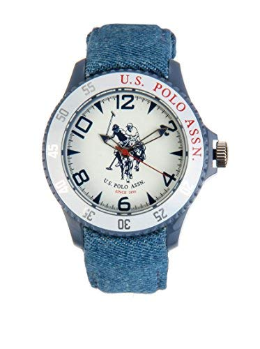US Polo Association USP4280WH - Reloj Analógico Para Hombre, color Blanco/Marrón