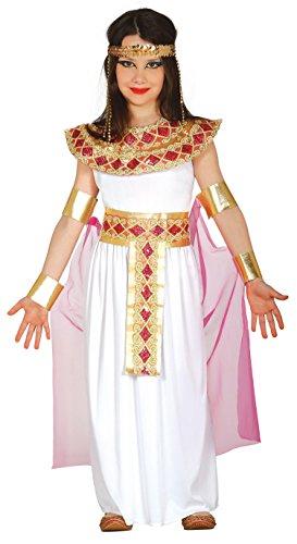 Guirca Costume da egiziana/Cleopatra, per bambine, taglia 5-6anni, rif: 85943.0