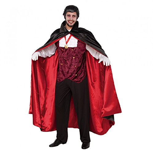 Costume da uomo Dracula taglia L/XL Carnevale di Halloween Vampiro