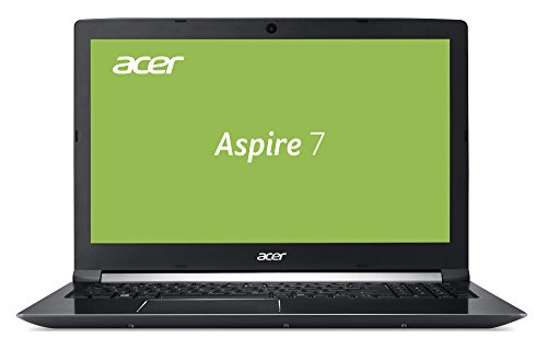 Acer Aspire 7 A715-71-70AD 39,6 cm (15,6 Zoll Full-HD IPS matt) Multimedia Notebook (Intel Core i7-7700HQ, 8GB RAM, 256GB SSD, 1TB HDD, GeForce GTX1050Ti 4GB GDDR5 VRAM, Win 10) schwarz
