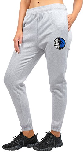 NBA Damen Jogger Hose Relax Fit Fleece Sweatpants, Team Logo Grau, Damen, FFL3341F, Grau meliert, Large -