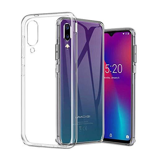 PaceBid UMIDIGI One Max Hülle Case, Crystal Clear Transparent Handyhülle Cover Soft Premium TPU Durchsichtige Schutzhülle für UMIDIGI One Max