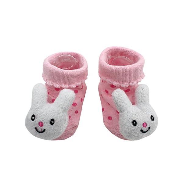 MAYOGO Bebé Calcetines Niña Corto Antideslizante Soles Acogedor Dibujos Animados 3D Recién Nacido Niño Bebé Calcetines… 1