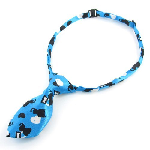 Einstellen Katzen-Herz-Druck-Hund Hund Welpen Kragen Bowtie Querbinder Schwarz Blau