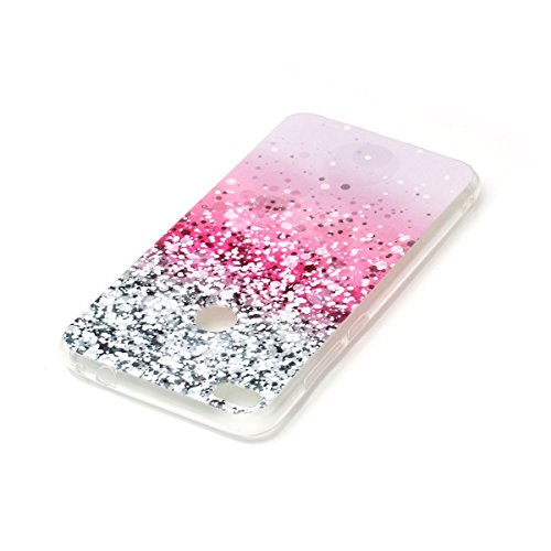 Huawei P8 Lite 2017 Souple Case,Transparent Coque pour Huawei P8 Lite 2017,Ekakashop Jolie Fleur de Jade Design Ultra Slim-fit Coque de Protection en Soft TPU Silicone Crystal Clair Flexible Gel Houss Ciel étoilé