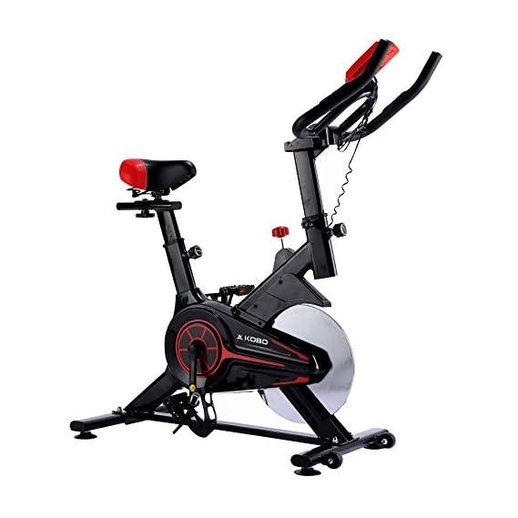 Kobo SB-5 Steel Exercise Spin Bike (Black)