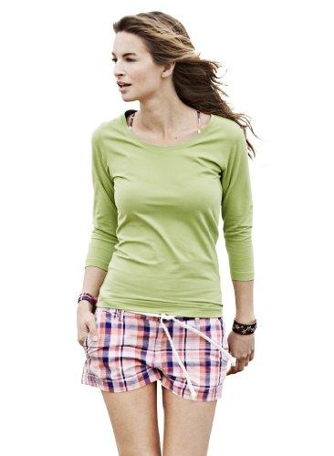 Ladies Stretch T-Shirt mit 3/4 Ärmeln Azure