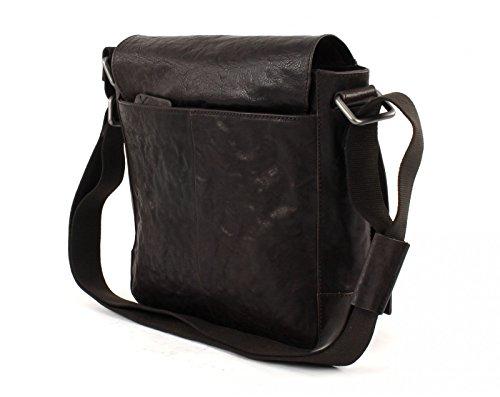 Strellson Coleman Umhängetasche Leder 25 cm Dark Brown