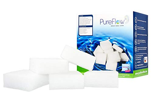 Pureflow 3D Filtre Cubes - Filtre à Eau 500 g - Remplacement pour 40 kg Filtre à Sable - pour piscines, Jacuzzi Piscine