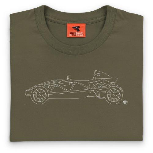 PistonHeads Atom Sports Car T-Shirt, Herren Olivgrn