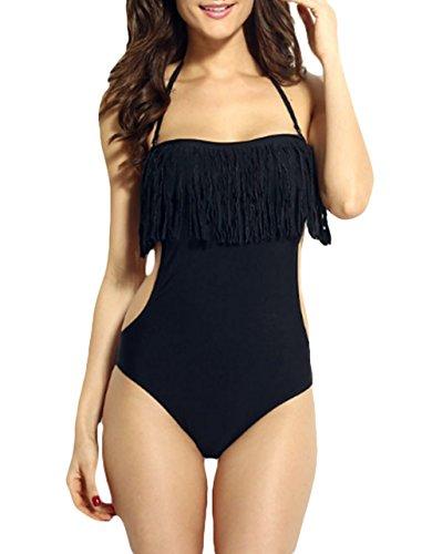 Y&L Fransen Neckholder-Monokini Schneiden Sie Ein Stück Der Frauen Badeanzüge Beachwear (Stück Ein Schneiden Sie Schwimmen)