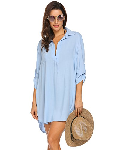 Unibelle Sexy Badebekleidung für Damen Bikini Cover Up Sommer Strandkleid Strandkleider Beach Dress (Beach Frauen Sexy Up Cover)