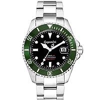 Gigandet Reloj de Hombre Automático Sea Ground Reloj de Buceo Analógico Correa de Acero Negro Verde G2-005 de Gigandet