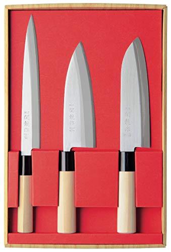 Juego de 3 Cuchillos Japoneses SekiRyu: Sashimi, Deba y Santoku - SR801