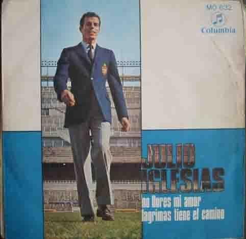 Disco Vinilo - Old vinyl .- JULIO IGLESIAS: No llores mi amor; Lagrimas tiene el camino