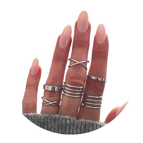 codici promozionali stile classico vendibile Timetries - Lotto di 6 anelli per le nocche stile vintage da ...