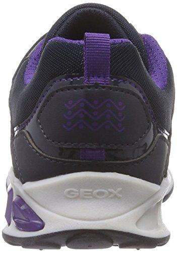 Geox J Shuttle Girl C, Scarpe da Ginnastica Bambina Blu (C4Pn8Dk Navy/Violet)