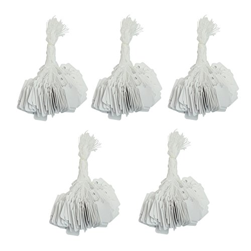 PinzhiOne Pack White Paper Strung Tags Blank 26 x 15mm