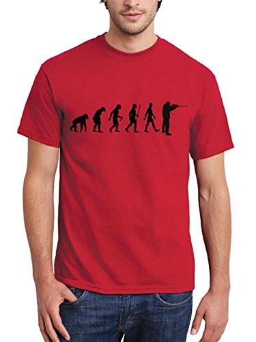 clothinx Herren T-Shirt Jäger Evolution Rot