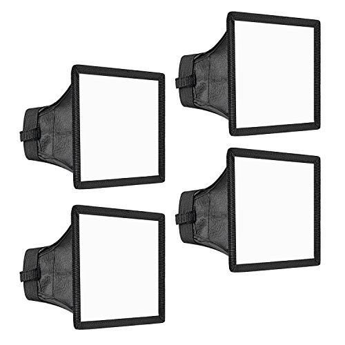 Neewer 4pz Diffusore 15x13cm per Speedlite Softbox Flash per Canon 580EX II 600EX-RT, YongNuo YN560 III, Nikon SB-900 SB-910, Neewer TT560 TT520 TT660 & Altri Flash di Reflex Digitali