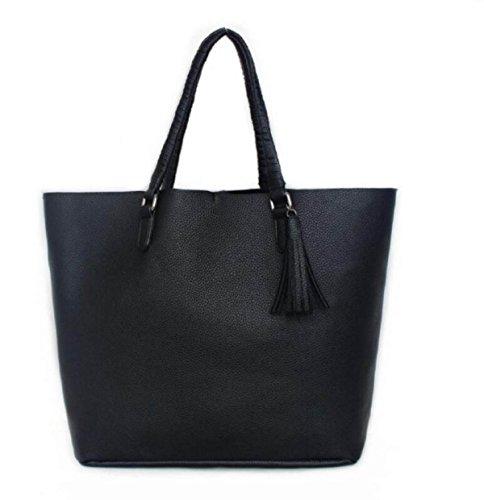 Europa Und Die Vereinigten Staaten Fashion Large - Capacity Portable Diagonal Cross - Paket Black