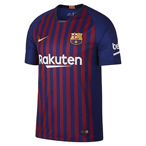 Nike Fútbol Club Barcelona, Temporada 2018/2019 T-Shirt, Hombre, 1ª Equipación, M