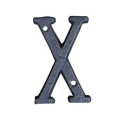 Wawer Metall Buchstaben Gusseisen Adresse Alphabet Dekorative Haus Zeichen DIY Cafe Party Hochzeit Aufhängen Restaurant Wand Decor (X) (Zeichen Für Adresse Häuser)