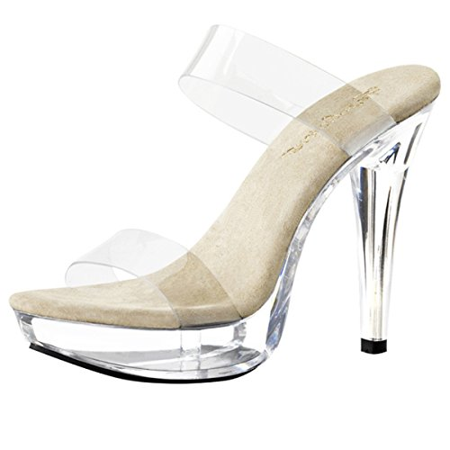 Heels-Perfect , Hi-Top Slippers femme Transparent - Transparent (transparent)