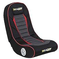 BraZen Sabre 2.0 Bluetooth Surround Sound Gaming Chair - Black/Red/Grey